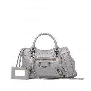 Balenciaga Gris Pyrite Classic Mini City Bag