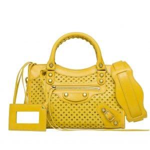 Balenciaga Moutarde Mini City Cross Bag