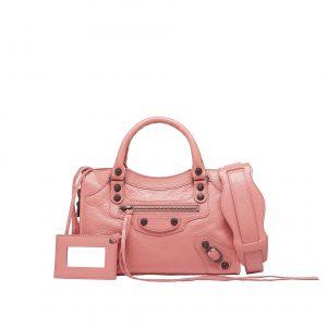 Balenciaga Rose Azalee Classic Mini City Bag