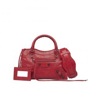 Balenciaga Rouge Cardinal Classic Mini City Bag