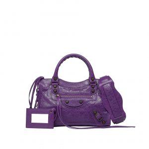 Balenciaga Ultraviolet Classic Mini City Bag