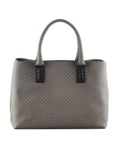 Bottega Veneta Grey Marco Polo Tote with Weave - Spring 2014