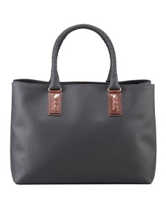Bottega Veneta Gunmetal Marco Polo Tote with Weave - Spring 2014
