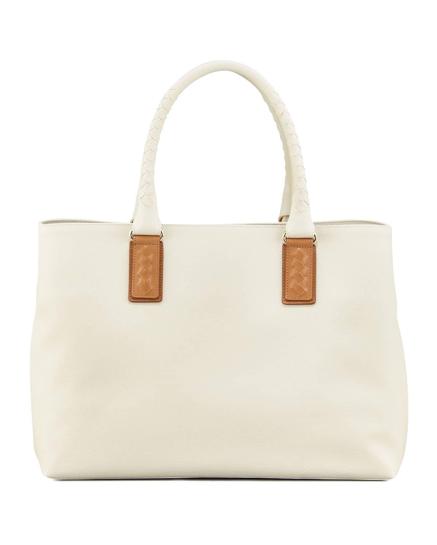 Bottega Veneta Small White Marco Polo Tote Bag Spring 2017
