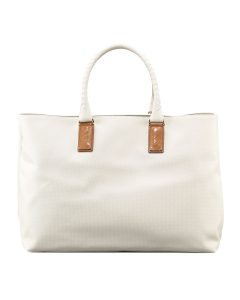 Bottega Veneta White Marco Polo Tote with Weave - Spring 2014