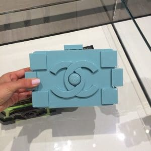 Celine Azur Light Blue Lego Bag - Spring 2014