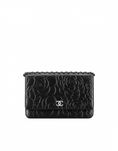 Chanel Black Camellia WOC Bag