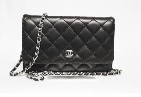 chanel wallet on chain price. chanel black classic quilted woc bag wallet on chain price y