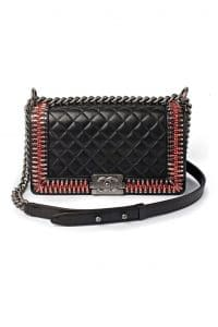 Chanel Boy Bag with Embellished Edges - Fall 2014 Runway