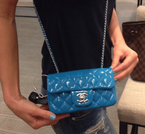 Chanel Dark Blue Classic Flap Mini Bag