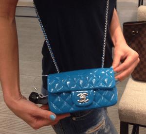 Chanel Dark Blue Classic Flap Mini Bag