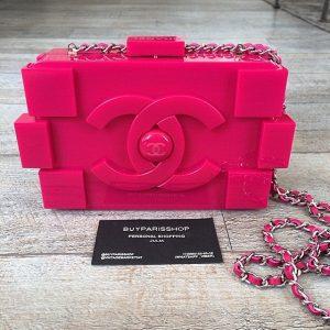 Chanel Fuschia Lego Bag - Spring 2014