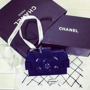 Chanel Navy Lego Bag - Spring 2014 - 2