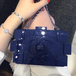 Chanel Navy Lego Bag - Spring 2014