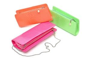 Chanel Neon Python Clutches - Fall 2014