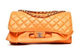 Chanel Orange Backpack Timeless Classic Bag - Fall 2014