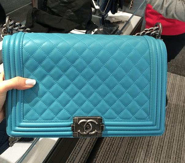 26dd8da42a3a Chanel Turquoise Bags and Shoes for Spring / Summer 2014 | Spotted ...