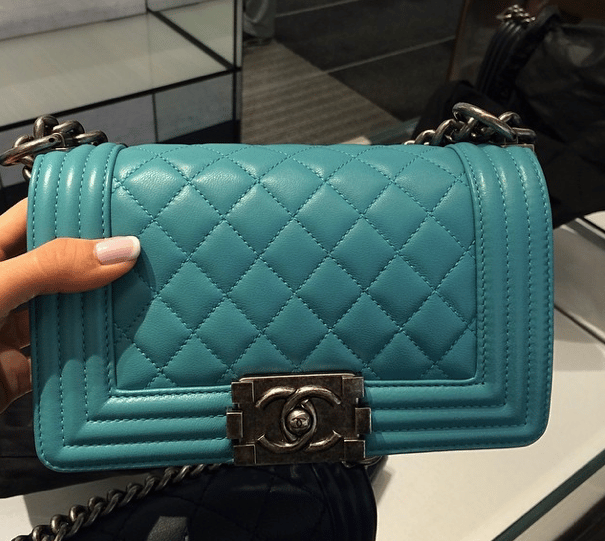 62273bcd8498ca Chanel Turquoise Bags and Shoes for Spring / Summer 2014 | Spotted ...