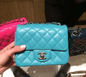 Chanel Turquoise Classic Flap Mini Bag