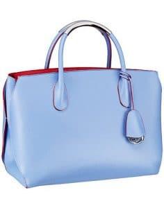 Dior Light Blue/Red DiorBar Bag