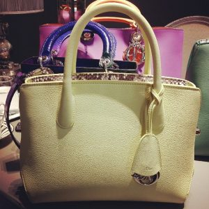 Dior Pale Yellow DiorBar Bag