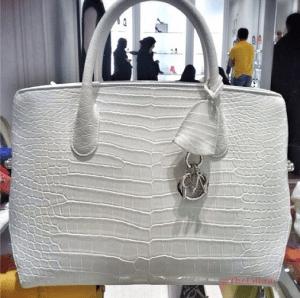 Dior White Crocodile DiorBar Bag
