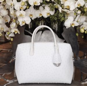 Dior White Ostrich DiorBar Bag