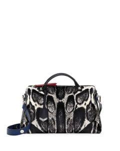 Fendi Leopard Print Calf Hair By The Way Bag