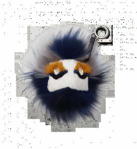 Fendi White/Blue Fur Buggies with Crystal Eyes