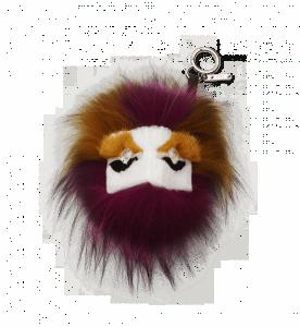 Fendi White/Fuchsia Fur Buddies with Crystal Eyes
