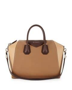 Givenchy Beige with Brown Handle Antigona Bag - Prefall 2014