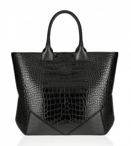 Givenchy Black Croc Embossed Easy Bag