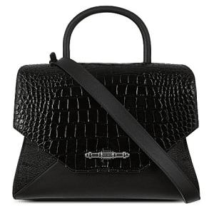 Givenchy Black Croc Embossed Obsedia Tote Bag