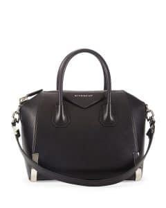 Givenchy Black Small Antigona Bag with Metal Feet - Prefall 2014