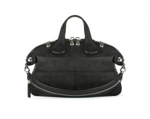 Givenchy Black with Silver Studs Nightingale Medium Bag