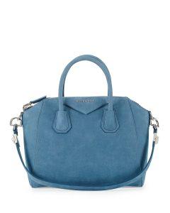 Givenchy Blue Nubuck Suede Antigona Bag - Prefall 2014