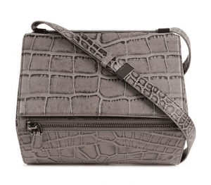 Givenchy Elephant Gray Croc Embossed Bag