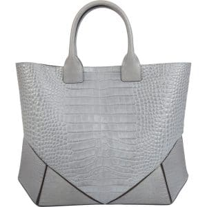 Givenchy Gray Croc Embossed Easy Tote Bag