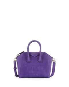 Givenchy Mini Antigona Purple Nubuck Suede Bag - Prefall 2014