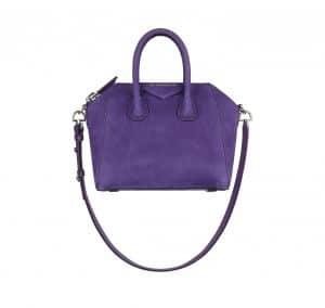 Givenchy Purple Nubuck Antigona Mini Bag