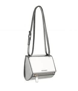 Givenchy Silver Mirrored Pandora Box Mini Bag