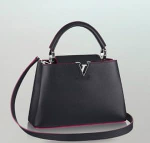 Louis Vuitton Capucines Black with Red BB Bag - Summer 2014