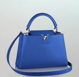 Louis Vuitton Capucines Blue BB Bag - Summer 2014