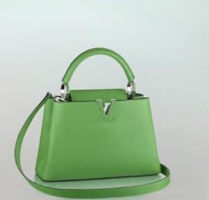 4127ed684b7c Louis Vuitton Capucines Green BB Bag - Summer 2014
