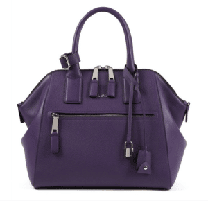 Marc Jacobs Purple Textured Leather Incognito Large Bag