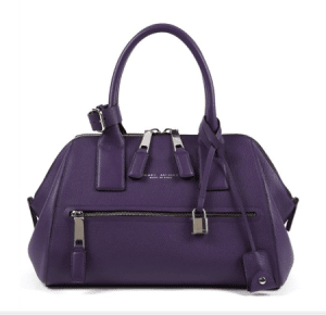 Marc Jacobs Purple Textured Leather Incognito Small Bag