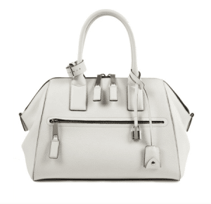 Marc Jacobs White Textured Leather Incognito White Bag