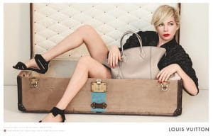 Michelle Williams with Beige Lockit Bag
