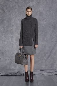 Mulberry Grey Ostrich Bayswater Bag - Pre-Fall 2014