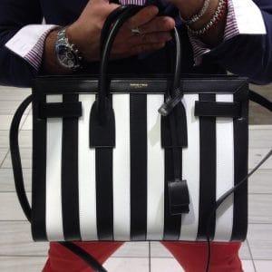 Saint Laurent Mini Striped Sac du Jour Bag - Spring 2014